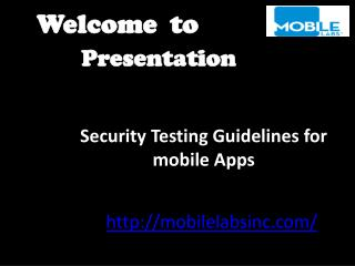 Security Testing Guidelines for mobile Apps