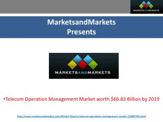 Telecom Operations Management Market by Software & Services - 2019