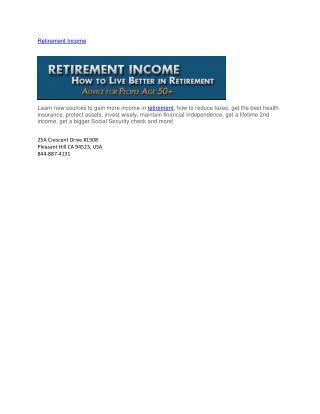 Retirement Income Guide