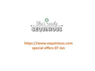 www.sequinious.com special offers 07 Jan