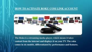 How to activate Roku com link account