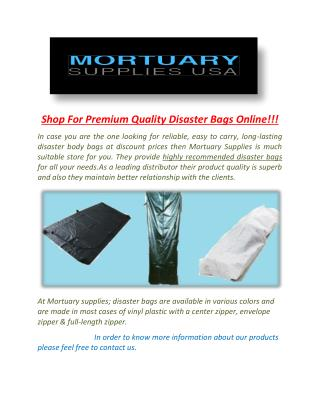 Disaster Bags: Shop For Wholesale Supplier