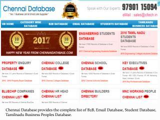 Student Database in Chennai