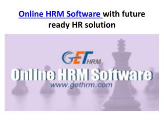 Online HRM Software with future ready HR solution