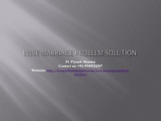All Love marriage problem solution