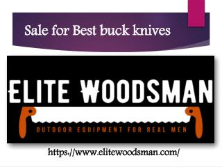 Sale for Best buck knives