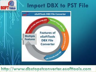 Import DBX to PST File