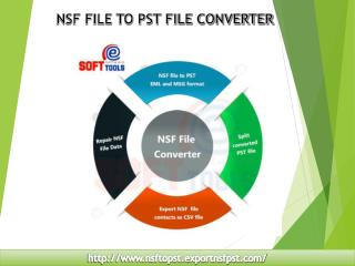 NSF File to PST File Converter