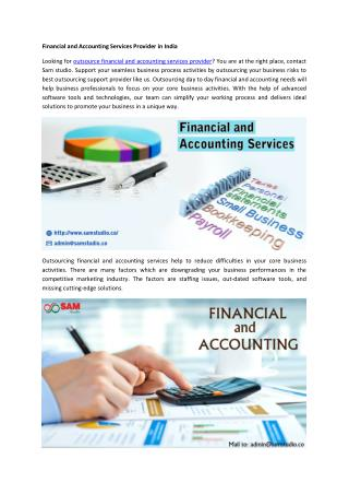 Financial and Accounting Services Provider in India