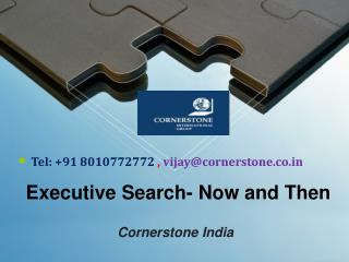 Executive Search Now and Then