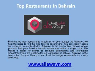Top restaurants in bahrain