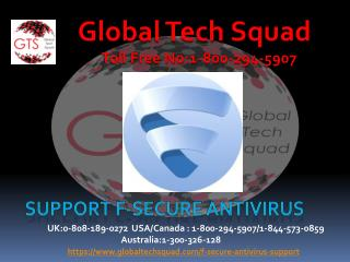 F-Secure Antivirus Support Call 1-800-294-5907
