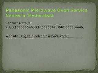 Panasonic Microwave Oven Service Center in Hyderabad
