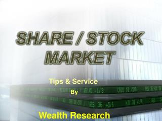 Stock Market Services by Wealth Research