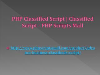 PHP Classified Script | Classified Script - PHP Scripts Mall