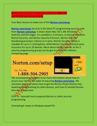 Norton.com/setup install full setup antivirus|www.Norton.com/setup|1-888-504-2905