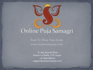 Online Puja Samagri, Puja Items - Myhawanpuja.com
