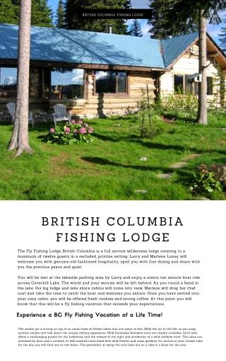 BC Interior Fishing Lodge