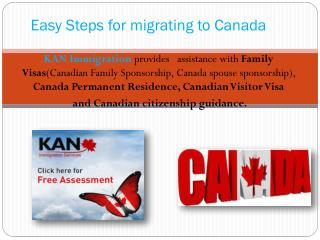 Easy Steps for migrating to Canada