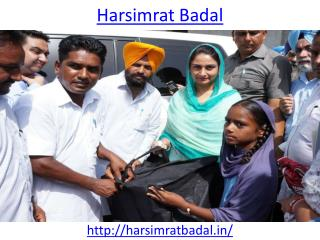 Union Cabinet Minister of Food Processing is Harsimrat Badal