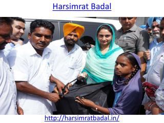 Harsimrat Badal Cabinet Minister of Punjab