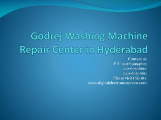Godrej Washing Machine Repair Center in Hyderabad