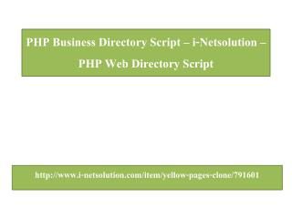 PHP Bussiness Directory Script – i-Netsolution – PHP Web Directory Script