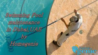 Swimming Pool Maintenance, Service and Repair in Dubai, UAE