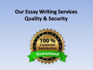 Our Essay Writing Services Quality