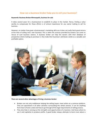 Business for Sale MN - Business Broker