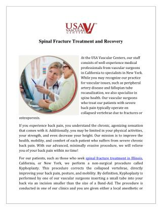 Spinal Fracture Treatment Illinois - USA Vascular Centers