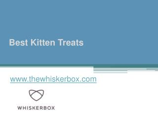 Best Kitten Treats - www.thewhiskerbox.com