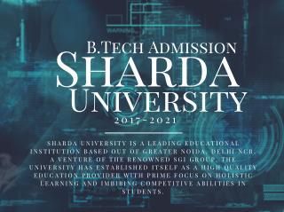 Sharda Admission 2017