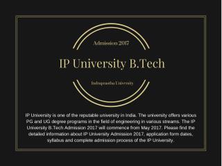 IP Admission 2017
