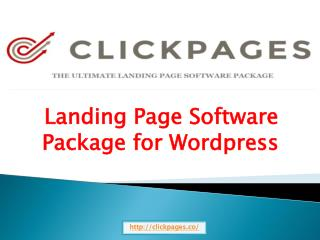 Landing Page Software Package for Wordpress