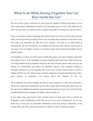 Car Locksmith in Dubai