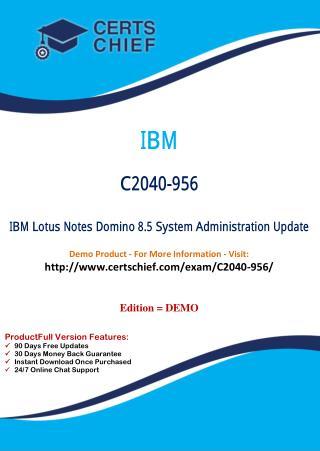 C2040-956 Exam Study Dumps