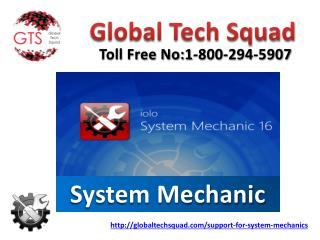 Support for system mechanic Online Dial:US 1-800-294-5907