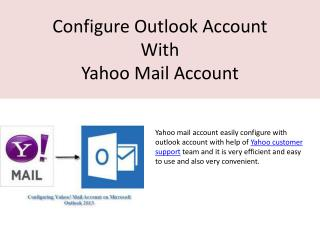 Configure outlook account with help of Yahoo customer support team