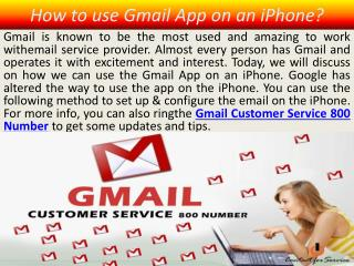 How to use Gmail App on an iPhone?