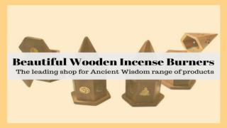 Beautiful Wooden Incense Burners