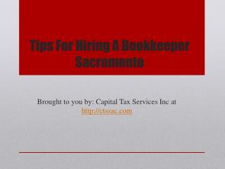 Tips for hiring a bookkeeper sacramento