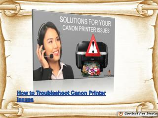 Top 7 Solutions for your Canon Printer Issues