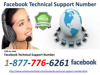 Don't Worry and Dial Support Number For Facebook @1-877-776-6261 Number