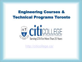 Engineering Training Courses & Programs In Toronto – Citi College