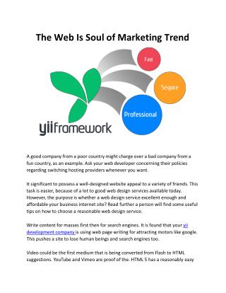 The Web Is Soul Of Marketing Trend