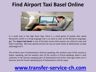 Find airport taxi basel online