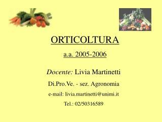 ORTICOLTURA a.a. 2005-2006