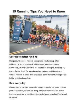 Running injury treatment