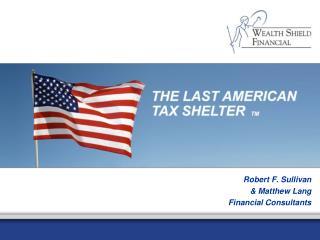 Robert F. Sullivan  Matthew Lang Financial Consultants